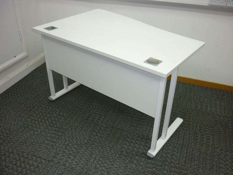 1200x 800/600mm white compact wave desks