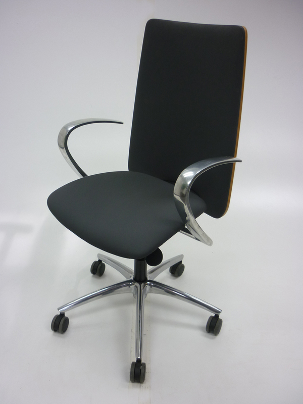 Oken Neko task chair in grey technical finish