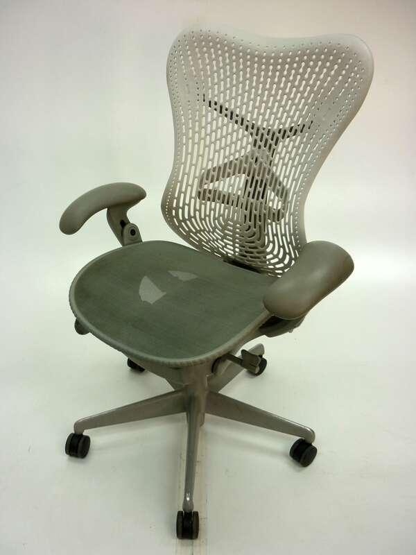 Herman Miller Mirra white/grey task chair