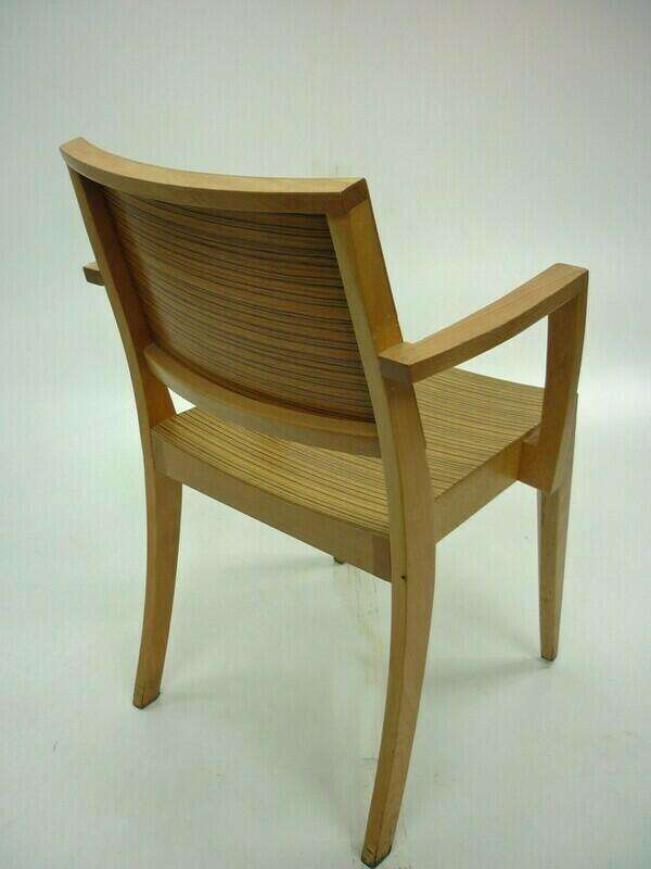 Bamboo 4 leg cafe chairs