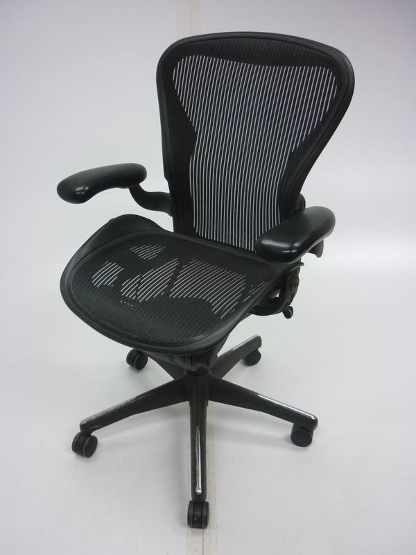 Herman Miller graphite Aeron task chair