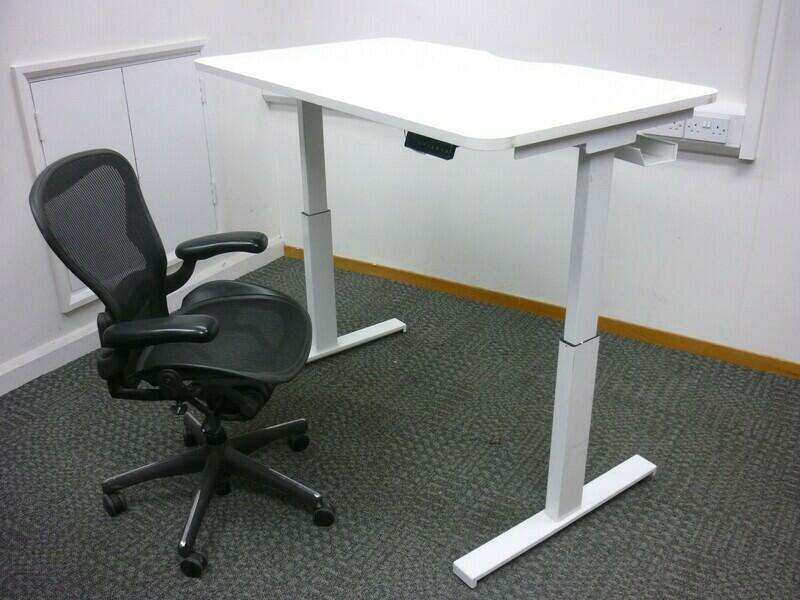 1200-1600mm electric sit/stand desks with choice of tops