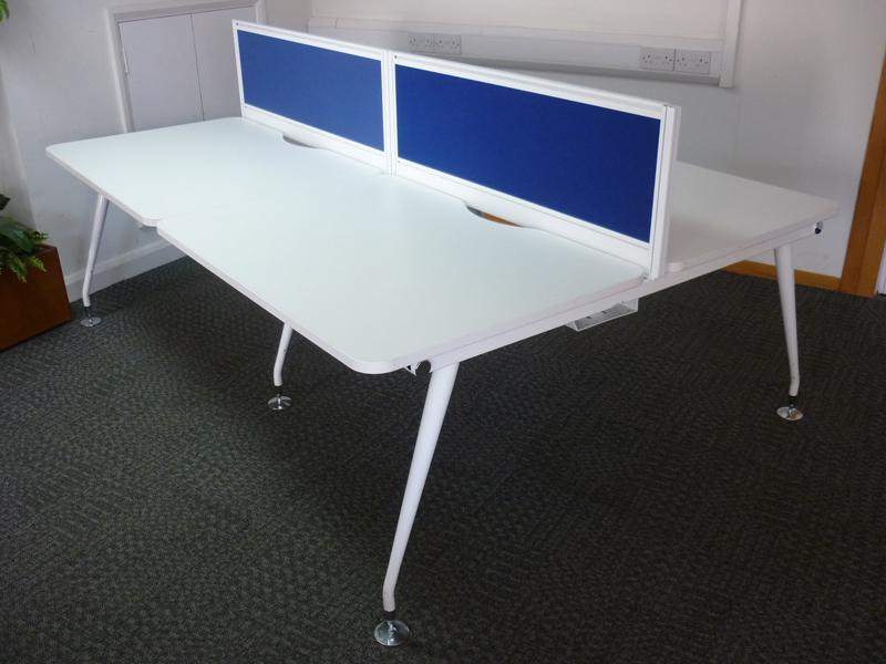 Mobili Vega white 1150mm bench desks