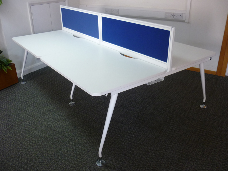 Mobili Vega white 1150mm bench desks