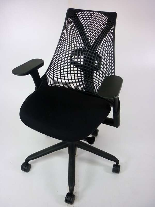 Herman Miller black Sayl chair