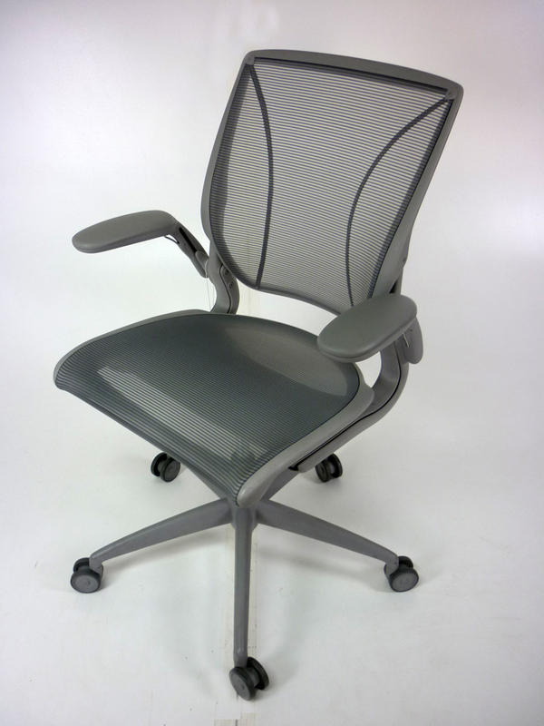 Light grey Humanscale Diffrient World task chairs