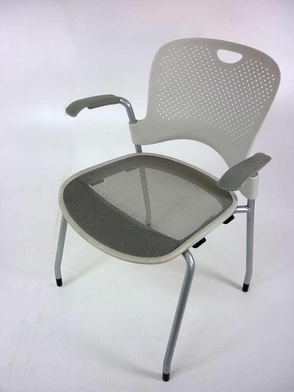 Herman Miller Casper white stacking chairs