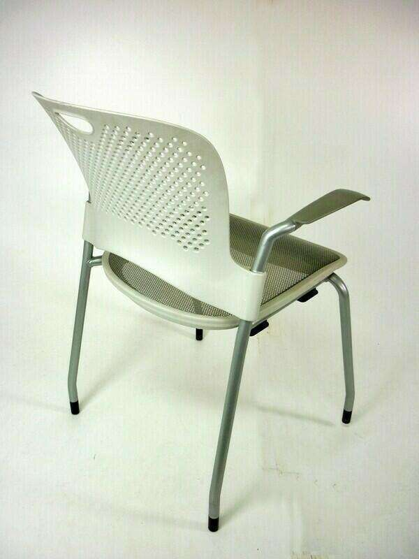 Herman Miller Caper white stacking chairs