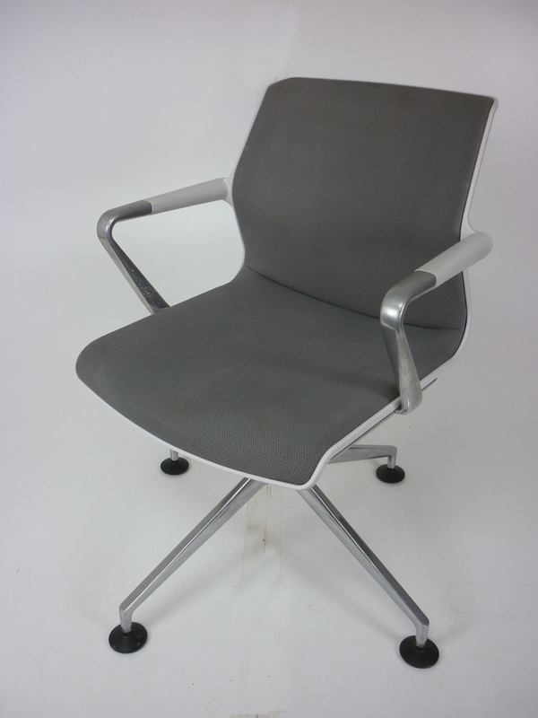 Vitra Unix grey conference chairs