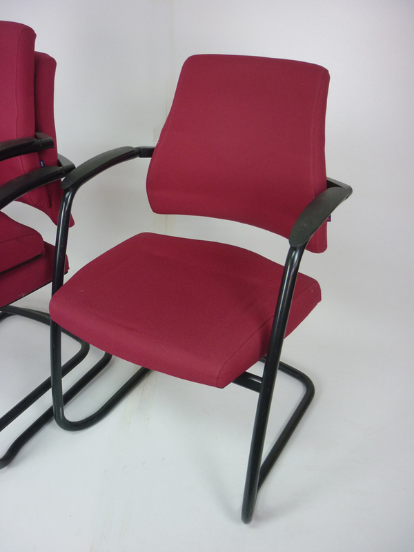 BMA Axia Visit stacking red meeting chairs