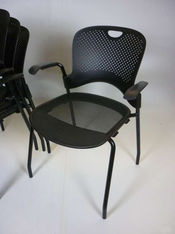 Herman Miller Caper black stacking chair
