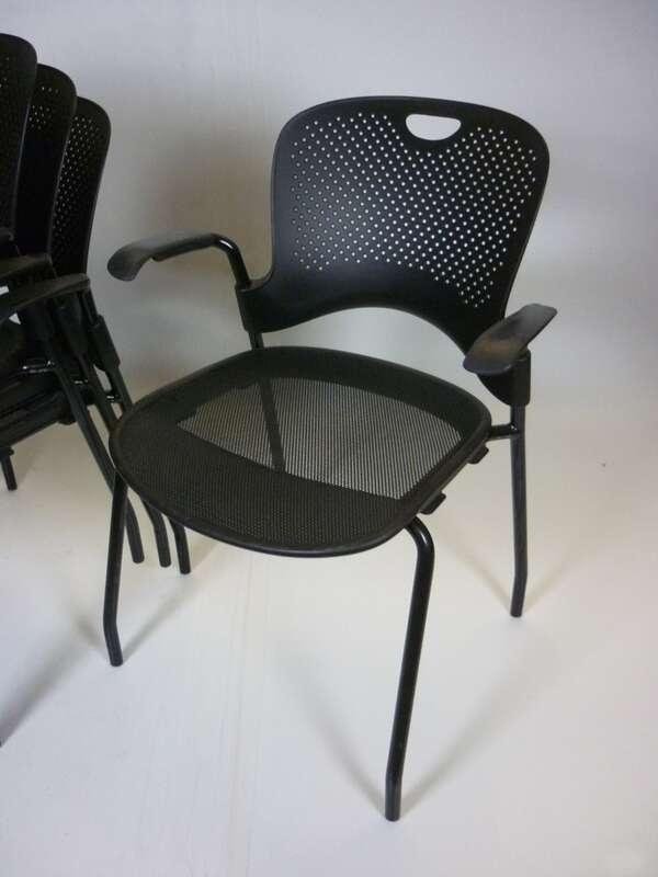 Herman Miller Caper black stacking chair