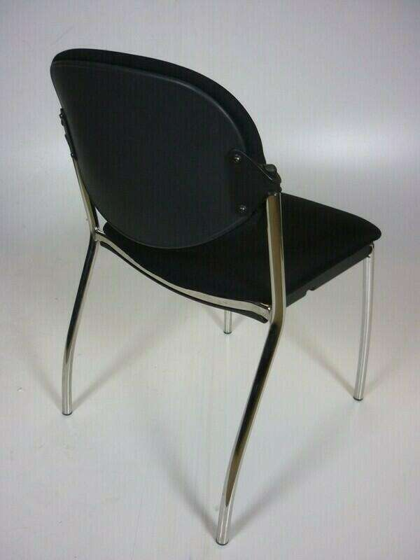 Systems Seating International black stacking chairs