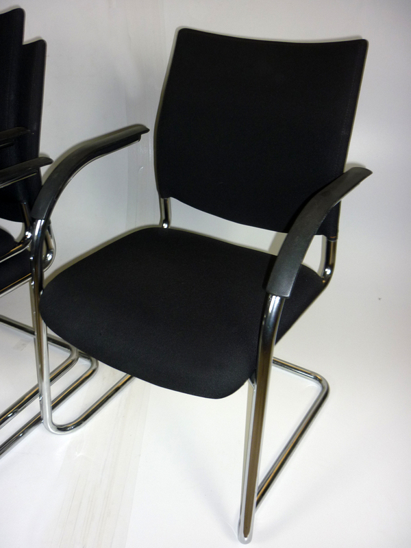 Kusch & Co black stacking chairs