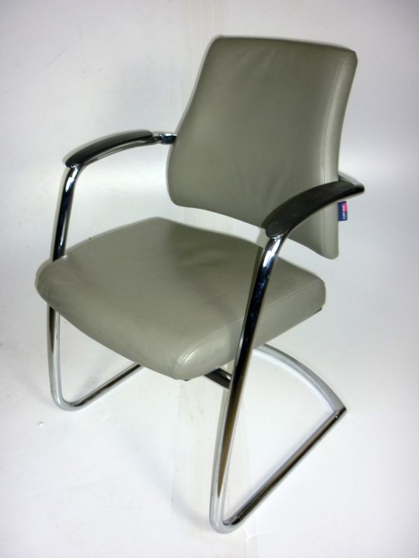 BMA Axia Visit chairs in grey leather