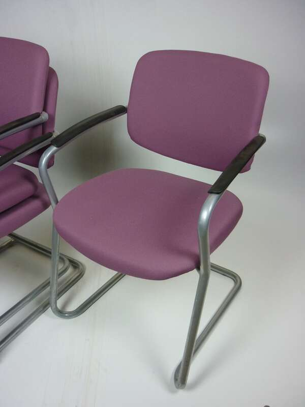 Connection light purple stacking chairs