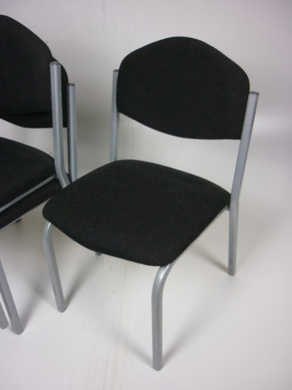 Charcoal stacking chairs