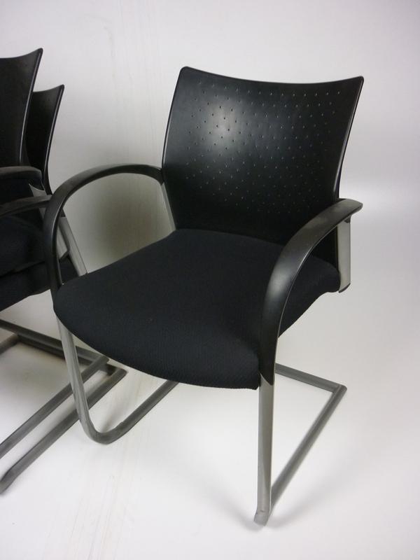 Senator Trillipse black plastic back stacking chairs