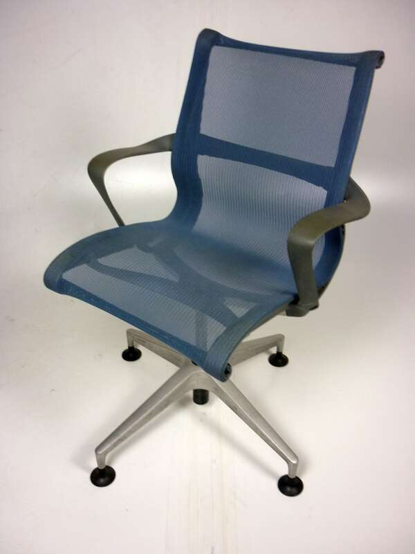 Herman Miller blue Setu conference chairs
