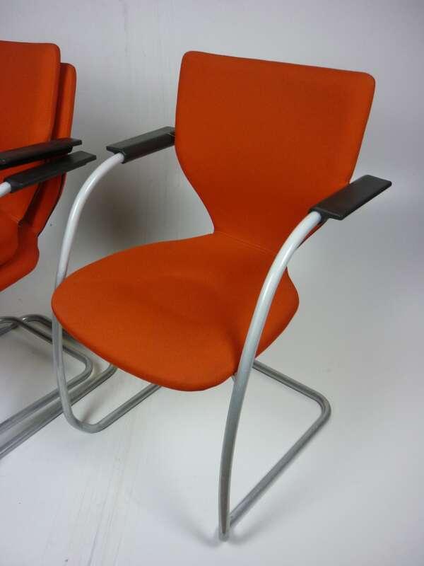 Orangebox X10 stacking chair in orange