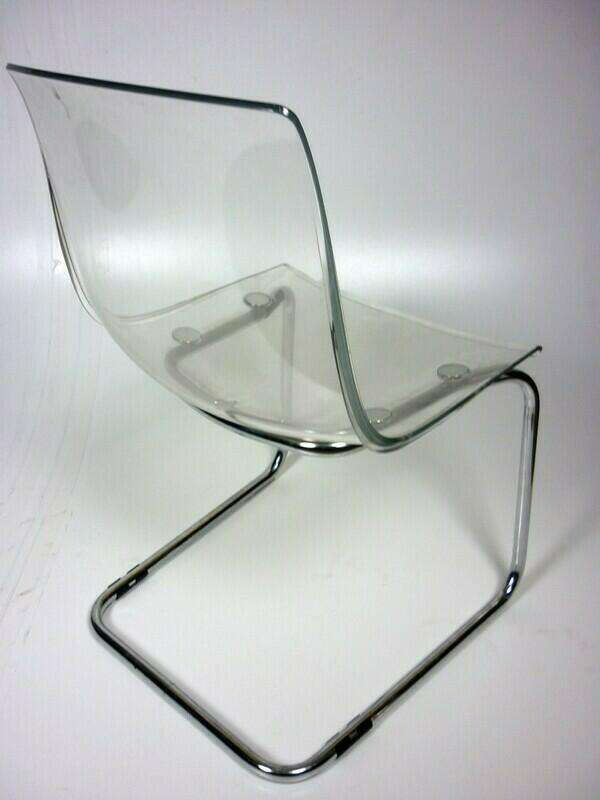 Clear perspex cafe chairs