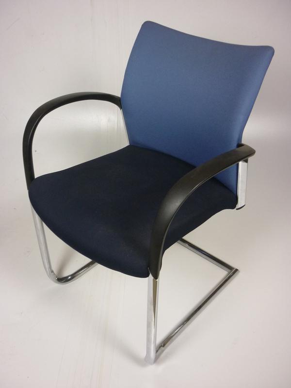 Senator Trillipse 2 tone blue stacking chairs