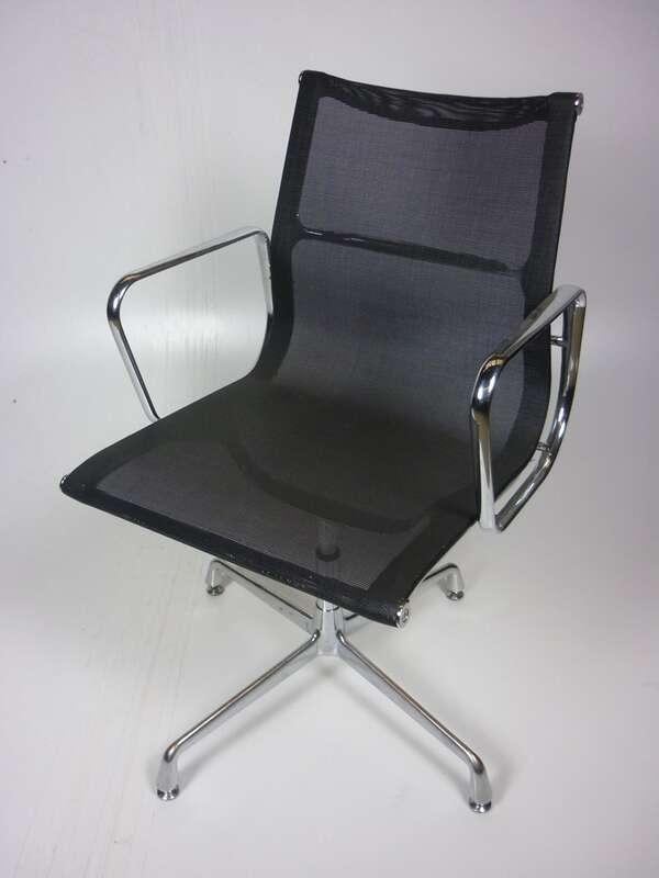 Eames look-a-like black mesh meeting chairs