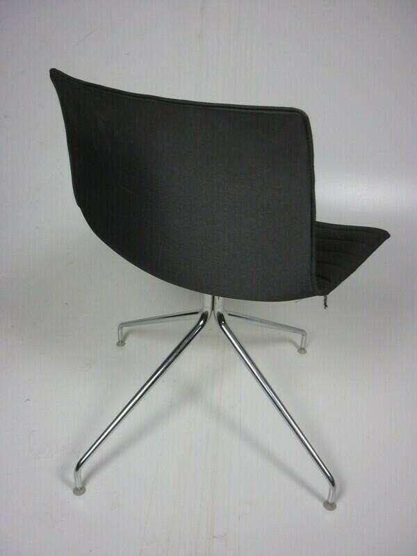 Arper Catifa 53 grey fabric meeting chair