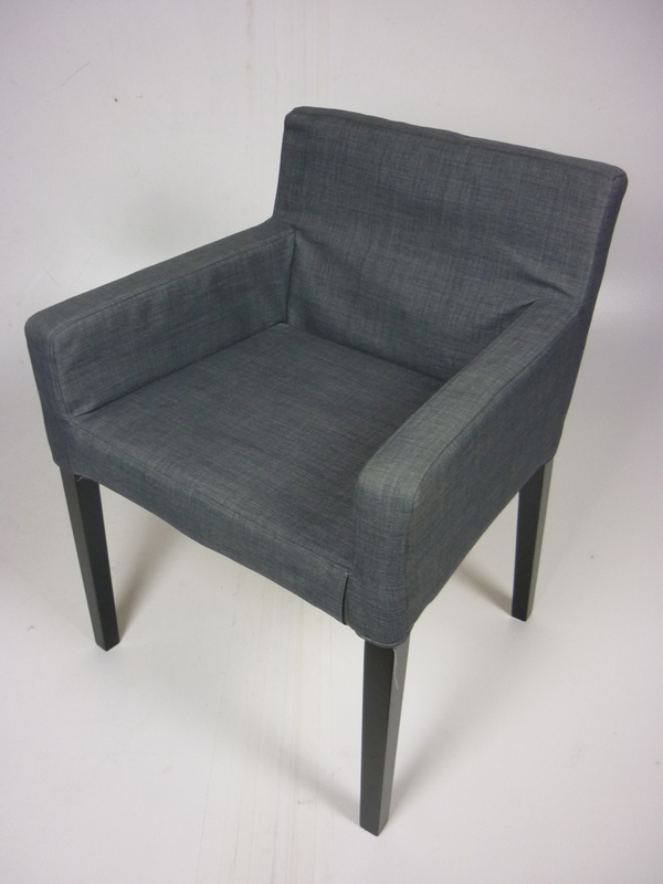 Grey Ikea armchairs