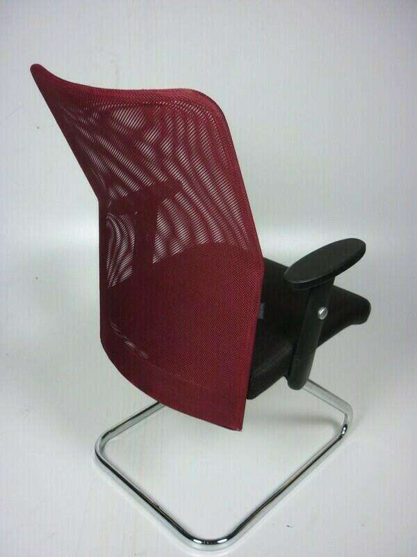 Techo SCIO burgundy/brown cantilever chairs