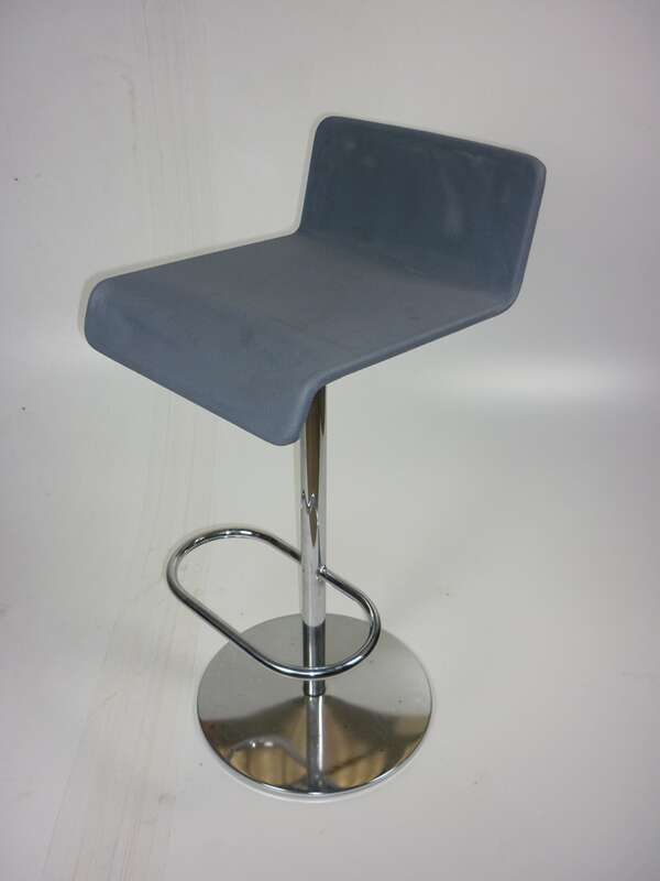 Grey mesh stool