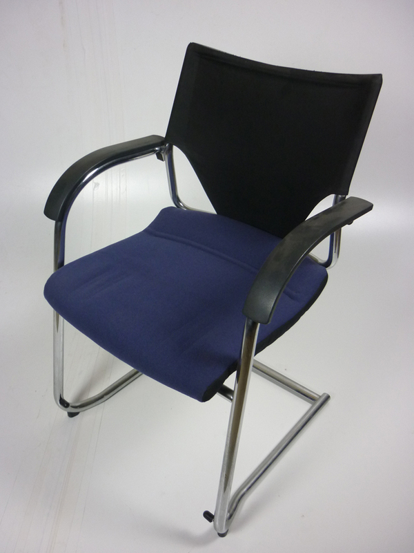 Wilkhahn blue and black meeting chairs