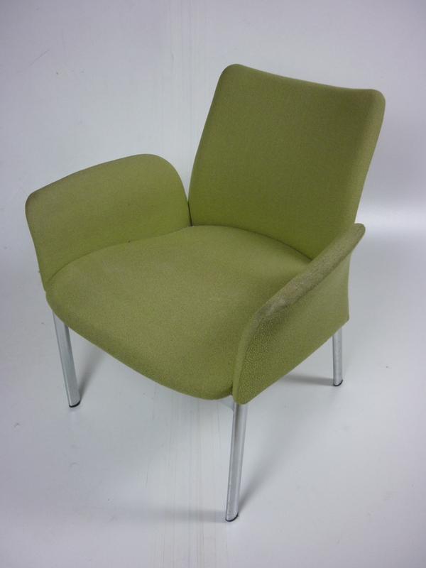 Light green 4 leg armchair