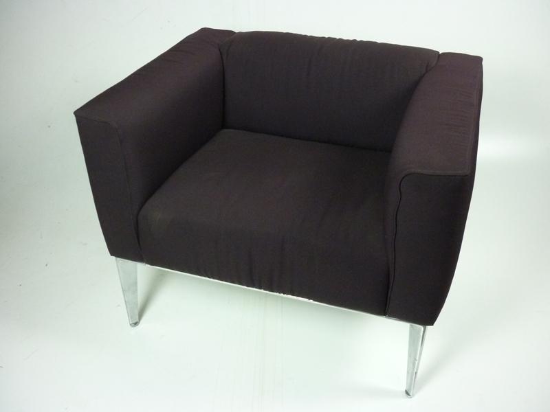 Arper Sean burgundy armchairs