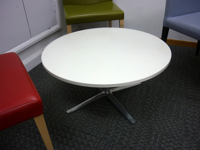 650mm diameter white marble coffee tables