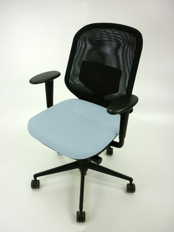 Vitral Medapal grey seat mesh task chair with arms
