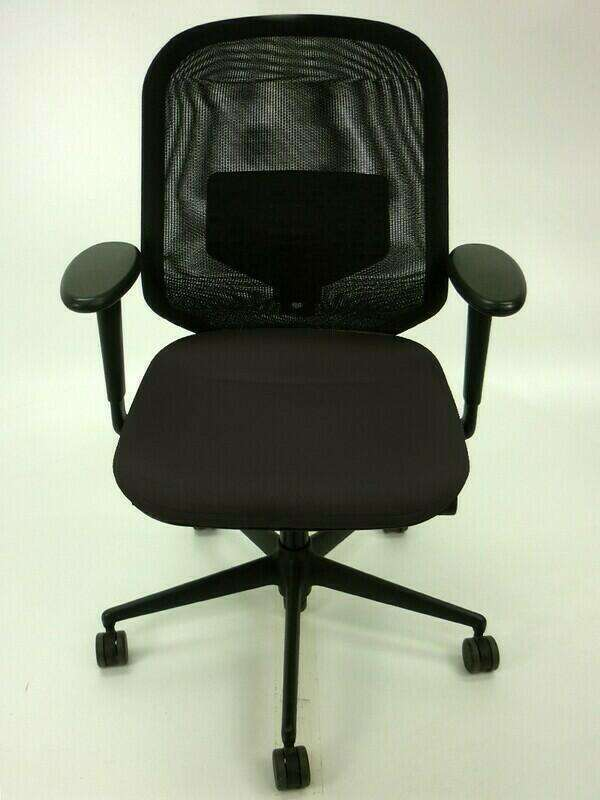 Vitra Medapal black task chairs with arms