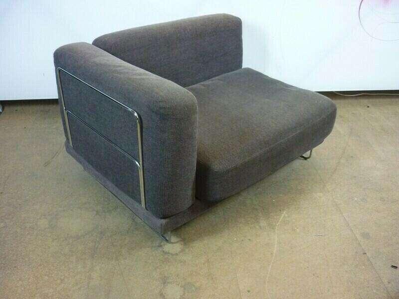 Chrome wire frame brown modular sofas
