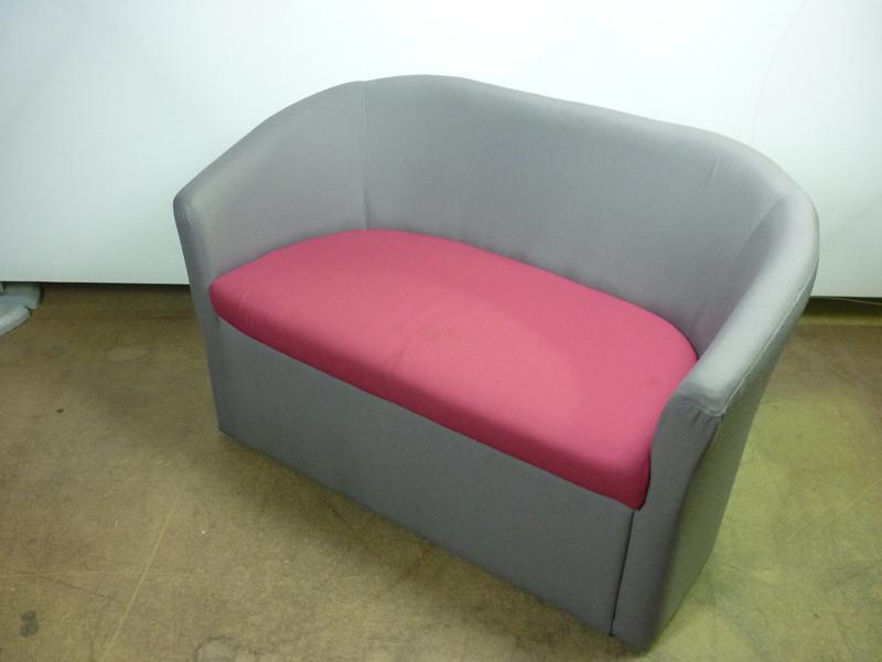 Greypink 2 seater tub sofas