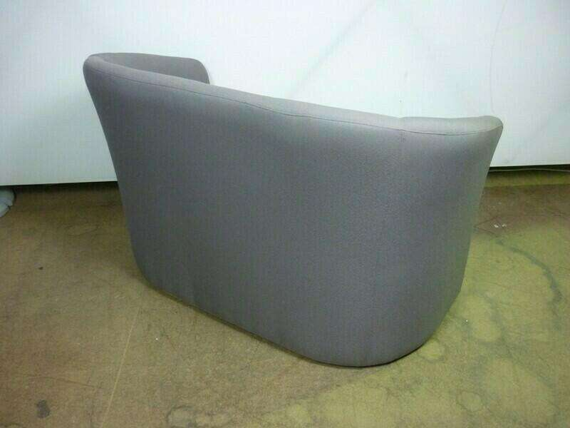 Grey/pink 2 seater tub sofas