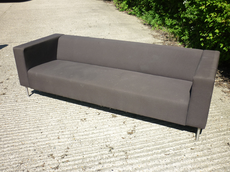Brown fabric 3 seater sofas