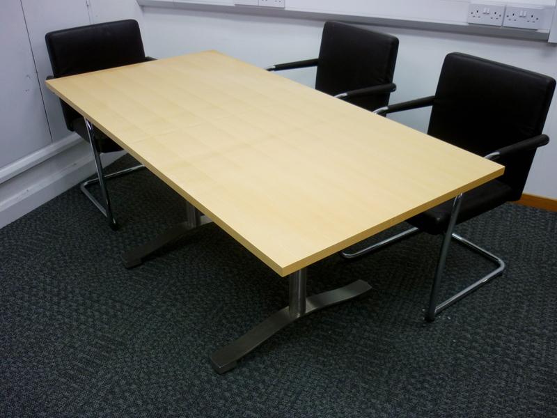 Luke Hughes oak veneer flip top tables