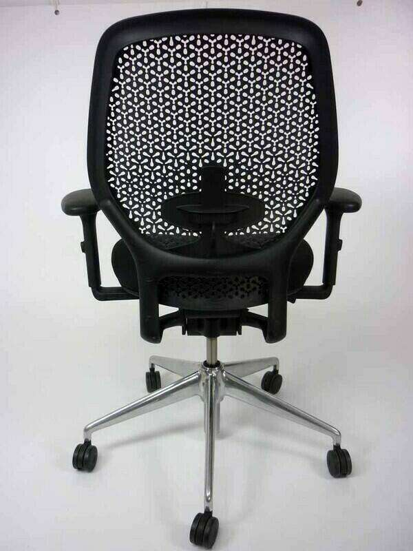 Orangebox ARA black task chair with arms and lumbar
