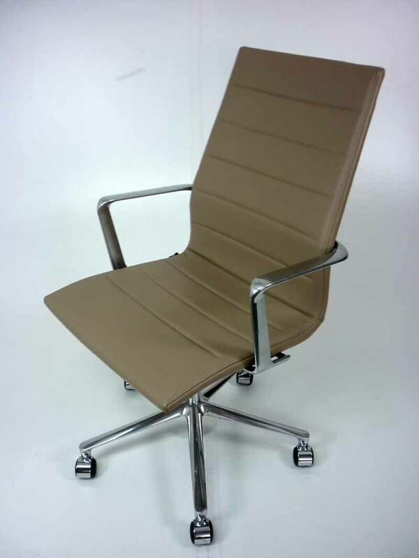 Mushroom leather ICF Una Executive task chairs