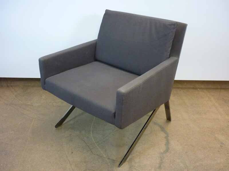 BampB Italia Theo grey armchair