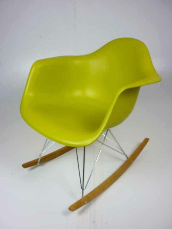 Vitra Eames plastic shell RAR armchair on rockers