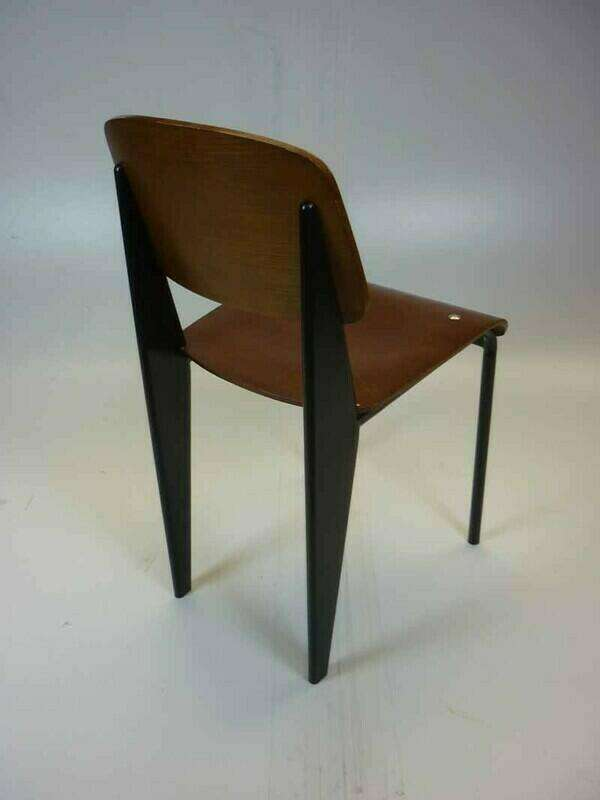 Jean Prouve for Vitra style Standard plywood chairs