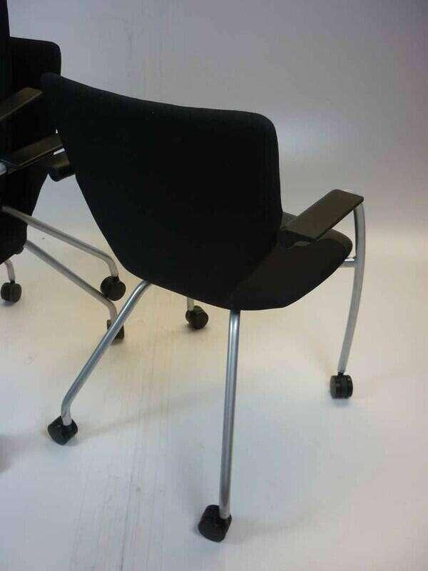 Black Orangebox X10 mobile meeting chairs