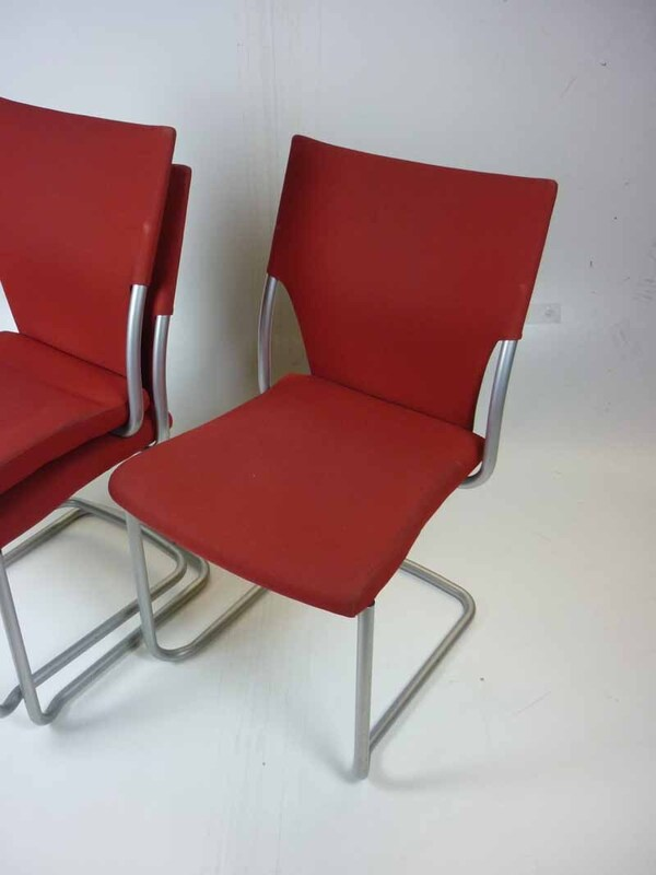 Red Brunner stacking chairs