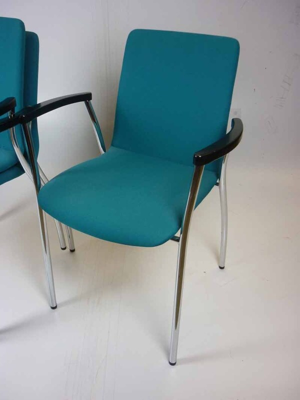 Bene green stacking meeting chairs